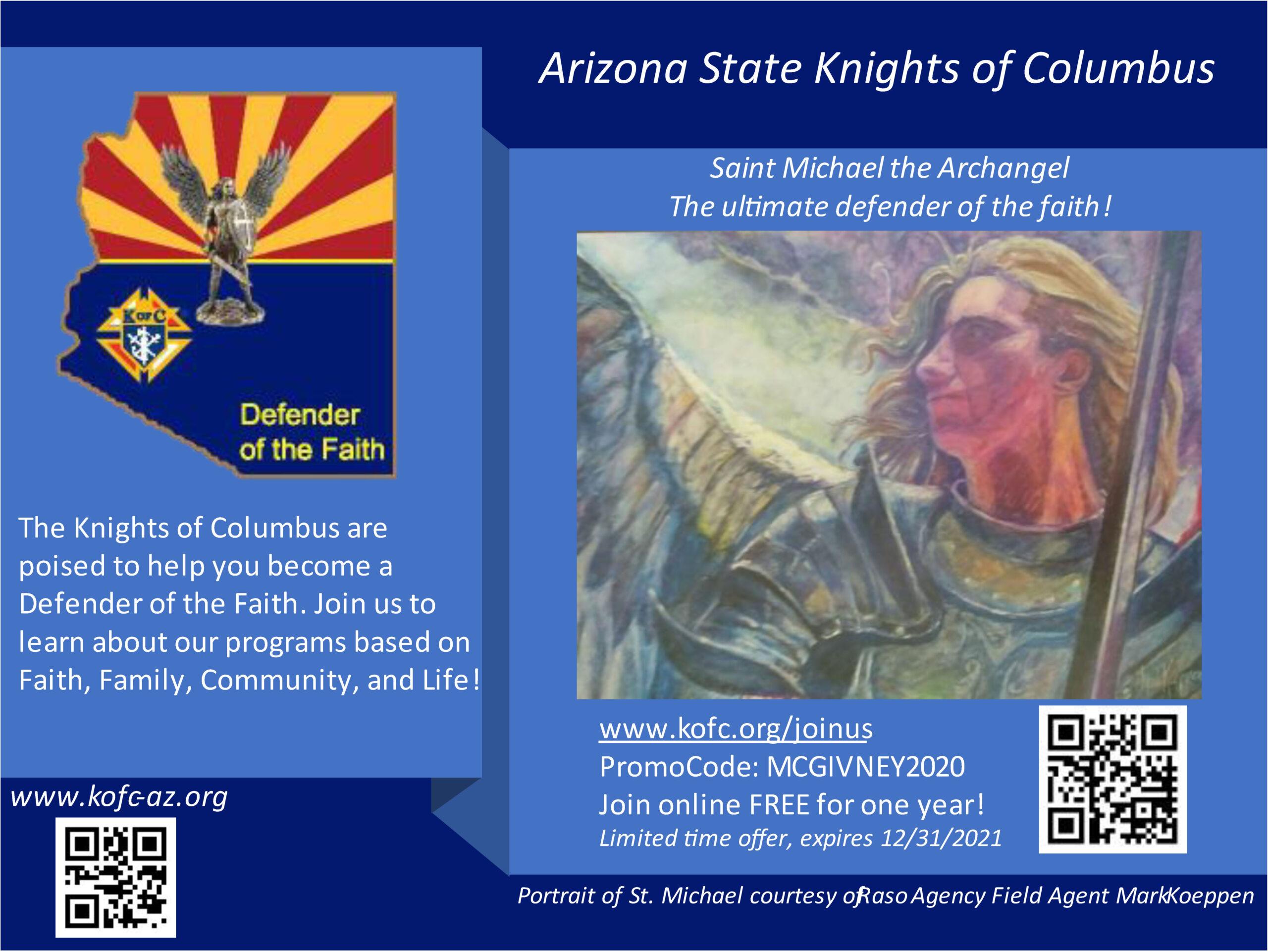 AZ Knights of Columbus September Promo